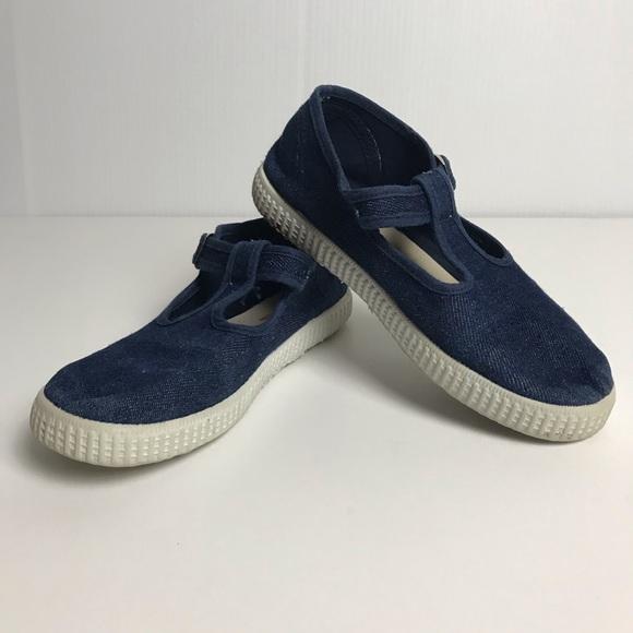 Cienta Shoes | Blue Mary Jane Tennis